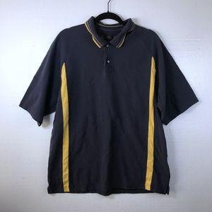 Nike Golf Sz Large Logo Athletic Blue Polo Shirt